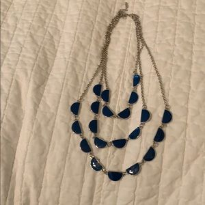 Jewelry - Navy/hot pink bib style necklace